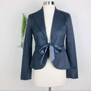 Women's Laundry Shelli Segal Gray Striped Blazer